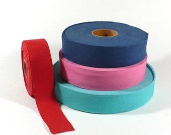 """Bias tape, Cotton, 1.25"""" wide, 3cm, binding tape, blanket tape, bias binding, Made in USA, 5 YARDS"""