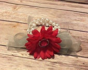 White Flower corsage