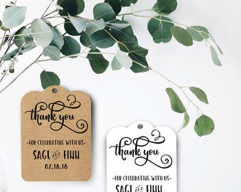 Wedding Tag/ Drink Tags/ Wedding Favors/ Wedding Favors/ Thank You Tags/ Thank You Wedding/ Thank You Note Card/ Present Tags/ Bottle Tags