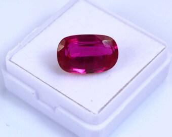 10.20 Ct Top Grade Natural Cushion Cut Transparent Ceylon Pink Sapphire Loose Gemstone