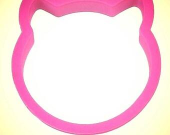 "Cat face cookie cutter, 3.5""   Cat cookie cutter, Kitty cookie cutter, Made in USA"