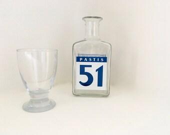 Pichet à eau Pastis 51 Pernod Ricard Publicité Bar bistrot France small jug of water Pastis 51 Advertising