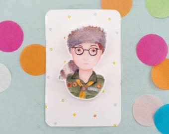 Sam  Moonrise Kingdom Wes Anderson brooch