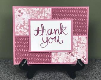 Thank You Card, Handmade Card, Stampin Up Card, Stampin Up Thank You Card, Handmade Thank You Card, Greeting Card