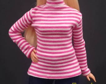 Dolls top for CURVY barbie No.180115-25