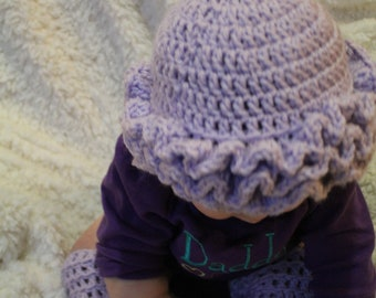 Ruffle Hat and Leg Warmers