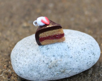 Chocolate Strawberry Cake Charm