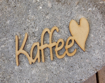 Lettering ' coffee '-typo, lettering, Deco