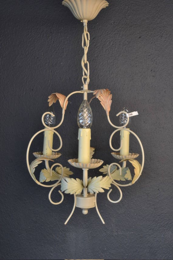 Beautiful toleware chandelier.