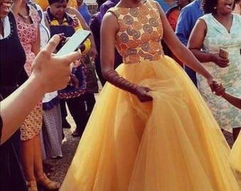 African ball dress