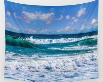 Wave Seascape Photo Tapestry Sea Tapestry Sunset Tapestry Sunshine Tapestry Photo Tapestry Sea View Tapestry Sky Tapestry Sea Tapestry
