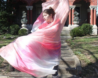 Peachy Queen Silk Bellydance Veil Bellydance Costume Veil