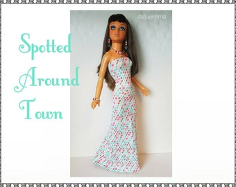 TIFFANY TAYLOR Doll Clothes - Summer Gown and Jewelry Set - Handmade Fashion - by dolls4emma