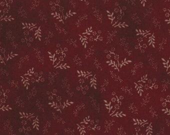 Moda Primitive Gatherings Favorites Burgundy Flowers Reproduction Fabric BTY 1076-19