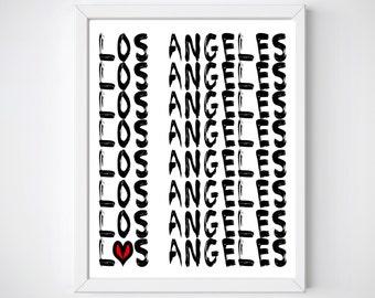 LA Printables, Los Angeles Art Print, Los Angeles Print, Los Angeles Posters, LA Wall Art, Los Angeles Art, Los Angeles Wall Art, LA Gifts