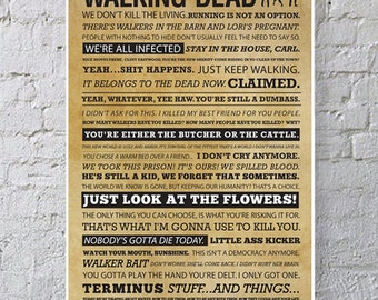 11x17 WALKING DEAD Quote Poster
