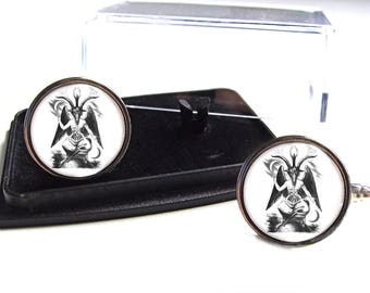 Baphomet Sabbatic Goat Eliphas Levi Mythology Cufflinks Cuff Links