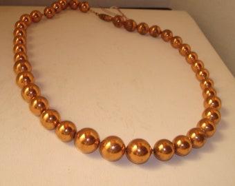 Vintage copper colored necklace