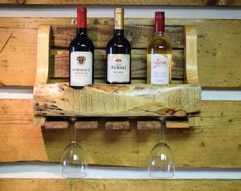 Reclaimed Wooden Wine Rack