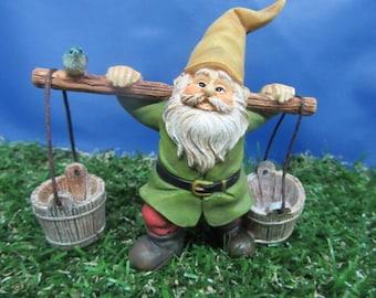 Miniature Garden Gnome - Fairy Garden - Fairy Garden Gnome - Highly Detailed