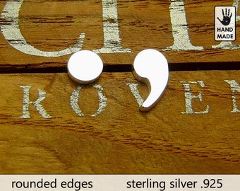 DOT & COMMA Handmade Sterling Silver .925 Earrings in a gift box