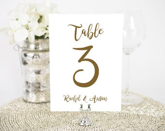 Printable Wedding Table numbers 1-30