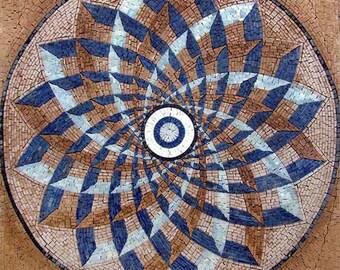 Geometric Blossom Mosaic Square - Ashi
