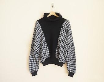 Vintage Houndstooth Sweater