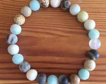 Tofino Collection Beach Matte gemstone bracelet