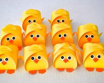 Little Chick Party Favor Treat Box