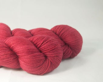 Sabrina - Dark Rose Hand Dyed Merino / Nylon Sock Yarn