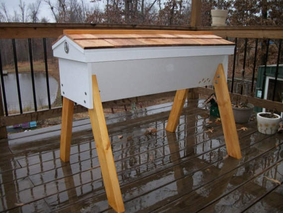 Top Bar Hive 30 Bars 48 Long Beehive Cedar Hinged Roof