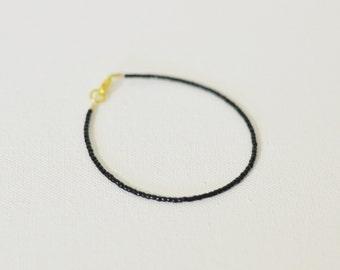 Bracelet femme, one strand bracelet, boho bracelet, black bracelet, rocaille bracelet, wholesale boho, seed bead bracelet, dainty bracelet