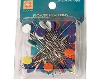 Flower Head Pins - 75 ct.