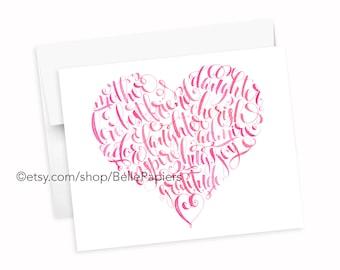 Fête des mères carte coeur carte mère impression fille meilleur ami amour câlins rire chérir maman fête des mères cadeaux fête des mères carte