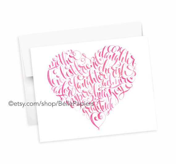 MotherS Day Card Heart Greeting Card Print Mother