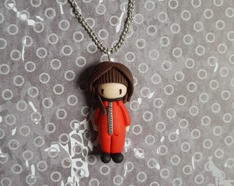 """Necklace little girl """"combination red, brown hair"""" (Tokyo)"""