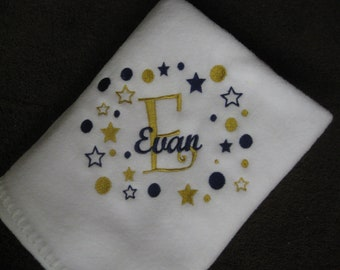 Personalized Toddler Blanket boy or girl Embroidered Monogrammed