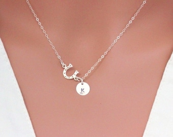 Horseshoe necklace sterling silver - Good Luck Necklace - Lucky Horseshoe - Confirmation Gift - Good Luck Gift - Lucky Gift - Luck Jewelry