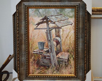 "Oil painting, landscape oil painting ""Well"""