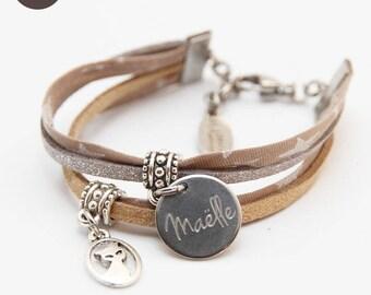Star child girl Beige bracelet