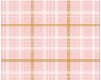 EXTRA 20 Simple Simon & Company When Skies are Grey Plaid Pink