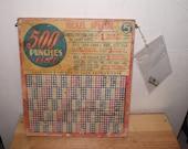 Old Nickel Punchboard 194...