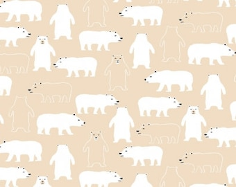 Polar Bears on Sand from Dear Stella Design's Cold Comfort Collection
