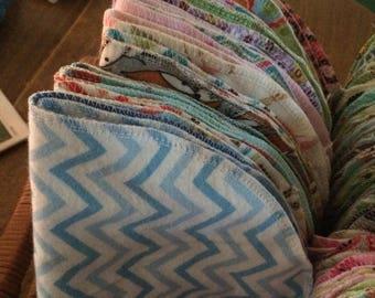 Baby Burp Cloth set of 3 Mix & Match.