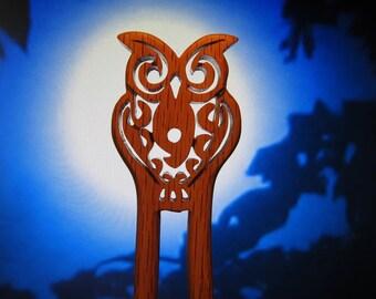 Hair Fork - Owl in Oak
