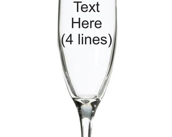 Customized Engrave Champagne Flute
