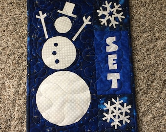 """Let it Snow Wall Hanging, 12""""x24"""