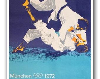 Jiu Jitsu Poster Vintage Martial Arts Print Sport Home Decor (365)