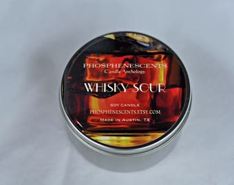 Whisky Sour Scented 6.5 oz. Soy Wax Wood Wick Candle Tin